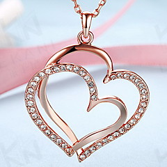 Κρεμαστά Κολιέ Κοσμήματα Heart Shape 18K χρυσό Κράμα Love Καρδιά Ευρωπαϊκό κοστούμι κοστουμιών Μοντέρνα Κοσμήματα Για Καθημερινά Causal