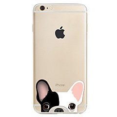 olcso iPhone 6s Plus tokok-Case Kompatibilitás Apple iPhone X iPhone 8 iPhone 5 tok iPhone 6 iPhone 7 Minta Fekete tok Kutya Puha TPU mert iPhone X iPhone 8 Plus