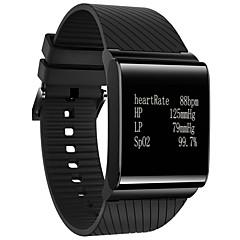 preiswerte Herrenuhren-Herrn Smartwatch Chinesisch Herzschlagmonitor / Kalender / Wasserdicht Silikon Band Charme Mehrfarbig / Fernbedienungskontrolle / Schrittzähler / Tachometer / Fitness Tracker / Tachymeter
