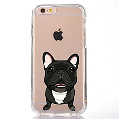 Para iPhone X iPhone 8 Case Tampa Transparente Estampada Capa Traseira Capinha Cachorro Macia PUT para Apple iPhone X iPhone 8 Plus