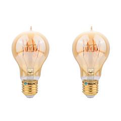 preiswerte LED-Birnen-2pcs 4W 400-450lm E26 / E27 LED Glühlampen A60(A19) LED-Perlen COB Dekorativ Warmes Weiß 220-240V