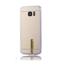 voordelige Galaxy S6 Hoesjes / covers-hoge kwaliteit galvaniseren gespiegeld met diamant terug dekking voor Samsung Galaxy S6 / S6 rand (verschillende kleuren)