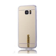 billige Galaxy S6 Edge Etuier-Etui Til Samsung Galaxy Samsung Galaxy etui Belægning Spejl Bagcover Helfarve Hårdt Akryl for S7 plus S7 edge S7 S6 edge plus S6 edge S6