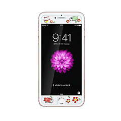 Χαμηλού Κόστους Προστατευτικά Οθόνης για iPhone 6s / 6 Plus-για Apple iPhone 6 / 6δ συν 5.5inch γυαλί διαφανές προστατευτικό μπροστά οθόνης με ανάγλυφο καρτούν λάμψη μοτίβο στο σκοτάδι τύχη γάτα