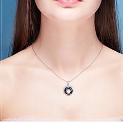 Ожерелья с подвесками Кристалл Хрусталь Круглой формы Базовый дизайн В виде подвески Темно-синий Бижутерия Повседневные 1шт