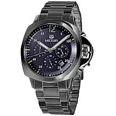 preiswerte Herrenuhren-MEGIR Kleideruhr Armbanduhr Sender Cool Rotgold / Schwarz / Silber / Silber / Blau