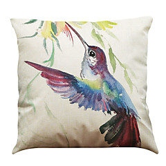 """hesapli -6 mürekkep kuş desenli keten yastık kümesi ev ofis kanepe squaredecorative (18 """"* 18"""")"""