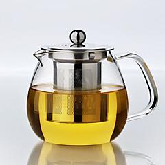 abordables Accesorios para té-Vidrio Manual 1pc Colador de té