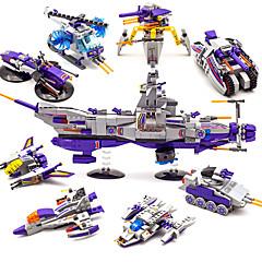 DHZ-kit Bouwblokken Educatief speelgoed Speeltjes Speeltjes Tank Oorlogsschip Vliegdekschip Vliegtuig Nieuwigheid transformable Jongens