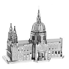DIY-setti 3D palapeli Palapeli Metalliset palapelit Lelut Kuuluisa rakennus Kirkko Arkkitehtuuri 3D DIY Sisustustarvikkeet Pieces