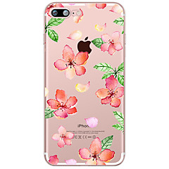 Недорогие Кейсы для iPhone 5с-Кейс для Назначение Apple iPhone X / iPhone 8 Plus Прозрачный / С узором Кейс на заднюю панель Цветы Мягкий ТПУ для iPhone X / iPhone 8 Pluss / iPhone 8