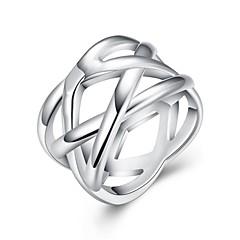 お買い得  指輪-指輪 - 銅, 銀メッキ 6 / 7 / 8 シルバー 用途 日常 / カジュアル