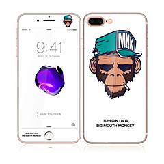 для Apple Iphone 7 4.7 закаленное стекло с передним мягким краем покрытия экрана полный и задний протектор экрана шаблон еды обезьяны
