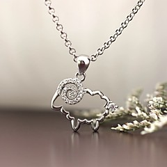 펜던트 스탈링 실버 모조 다이아몬드 베이직 디자인 애니멀 디자인 고급 보석 보석류 용 일상 캐쥬얼 1PC