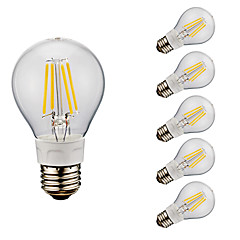 お買い得  LED 電球-GMY® 6本 4W 400/500 lm E26 フィラメントタイプLED電球 A60(A19) 4 LEDの COB 温白色 クールホワイト 2700/6500 K AC 110-130 V