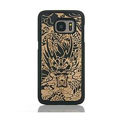 Etui Til Samsung Galaxy S7 edge S7 Mønster Bakdeksel Tegneserie Hard Bambus til S7 edge S7 S6 edge S6