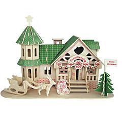 abordables Disfraces de Santa-Puzzles de Madera Edificio Famoso Arquitectura China Casa Nivel profesional De madera 1 pcs Chico Chica Juguet Regalo
