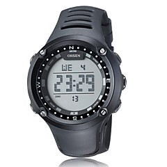 Heren Sporthorloge Dress horloge Skeleton horloge Modieus horloge Polshorloge mechanische horloges Kwarts Echt leer Band Bedeltjes