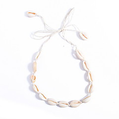 levne Dámské šperky-Obojkové náhrdelníky - Mušle Přizpůsobeno, Evropský, Módní Bílá Náhrdelníky Pro Denní, Ležérní