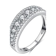 preiswerte Ringe-Damen Geometrisch Statement-Ring Ring - Sterling Silber, Krystall, Zirkon Personalisiert, Geometrisch, Einzigartiges Design 6 / 7 / 8 Silber Für Hochzeit Party Besondere Anlässe / Strass