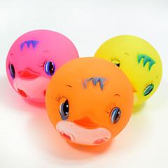 Χαμηλού Κόστους Παιχνίδια για γάτες-Μπάλα Παιχνίδια για μάσημα Διαδραστικό Παιχνίδι για καθαρισμό δοντιών Squeaking Toys Κινούμενα σχέδια τρίξιμο Ελαστικό Ανθεκτικό