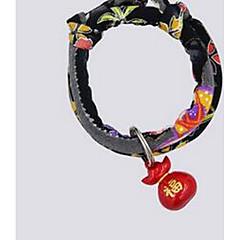 Kot Obroże Muszka Ładny i milutki Jendolity kolor Materiał Black Purple Yellow Czerwony Niebieski
