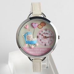 preiswerte Tolle Angebote auf Uhren-Damen Armbanduhr Quartz Schlussverkauf / PU Band Analog Freizeit Zeichentrick Modisch Schwarz / Weiß / Rosa - Weiß Schwarz Fuchsia