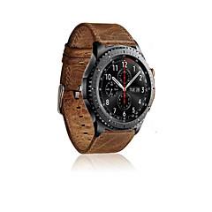 натуральная кожа часы марочные группа сумасшедшие лошадь браслет ремешок для Samsung Gear s3 классический Samsung Gear s3 границы