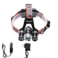 U'King Czołówki Reflektor LED 4000 lm 4.0 12 Tryb Cree XP-G R5 Cree XM-L T6 z ładowarkami Zoomable Regulacja promienia Niewielki rozmiar