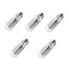 4W E26 E27 LED Corn Lights T 84 leds SMD 2835 Cold White 350lm 6000K DC 12-24V