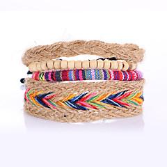 Кожаные браслеты Сплав Кожа Круглой формы Панк Бижутерия 1шт Цвет радуги