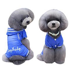お買い得  犬用ウェア&アクセサリー-犬 コート パーカー ジャンプスーツ レインコート 犬用ウェア ブリティッシュ ダークブルー フクシャ ナイロン コスチューム ペット用 男性用 女性用 キュート ファッション