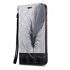 hoesje Voor Samsung Galaxy A5(2017) A3(2017) Kaarthouder met standaard Flip Patroon Magnetisch Volledige behuizing Veren Hard PU-leer voor