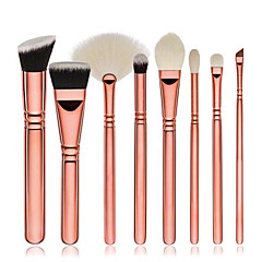 8pcs Brush Sets Blushkwast Oogschaduwkwast Concealerkwast Waaierkwast Foundationkwast Contour Brush Synthetisch haarBeugel
