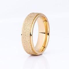 preiswerte Ringe-Damen Eheringe - Edelstahl, vergoldet Grundlegend 6 / 7 / 8 / 9 Schwarz / Silber / Champagner Für Hochzeit Party Besondere Anlässe
