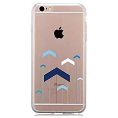 Недорогие Кейсы для iPhone 7 Plus-Кейс для Назначение Apple iPhone 7 Plus iPhone 7 Прозрачный С узором Кейс на заднюю панель Геометрический рисунок Мягкий ТПУ для iPhone 7
