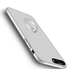 Недорогие Кейсы для iPhone 7-Кейс для Назначение iPhone 7 Plus IPhone 7 Apple со стендом Кольца-держатели Ультратонкий Кейс на заднюю панель Сплошной цвет Твердый ПК
