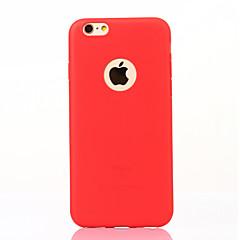 Недорогие Кейсы для iPhone 7-Кейс для Назначение IPhone 7 Apple Ультратонкий Матовое Кейс на заднюю панель Сплошной цвет Мягкий ТПУ для iPhone 7