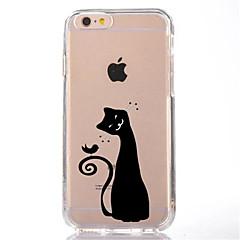 Для Прозрачный С узором Кейс для Задняя крышка Кейс для Кот Мягкий TPU для AppleiPhone 7 Plus iPhone 7 iPhone 6s Plus iPhone 6 Plus
