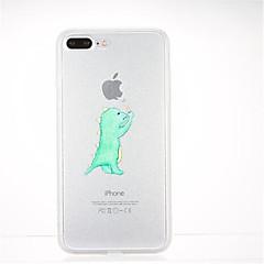 Недорогие Кейсы для iPhone 7 Plus-Кейс для Назначение Apple iPhone 7 Plus iPhone 7 С узором Кейс на заднюю панель Композиция с логотипом Apple Мягкий ТПУ для iPhone 7 Plus