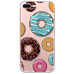 Недорогие Кейсы для iPhone 6 Plus-Кейс для Назначение Apple Прозрачный С узором Задняя крышка Продукты питания Мягкий TPU для iPhone 7 Plus iPhone 7 iPhone 6s Plus iPhone