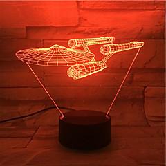 abordables Lámparas LED Novedosas-1set de luz de noche 3d color cambiante colorido otro usb con batería para niños sensor táctil de color batería cambiante