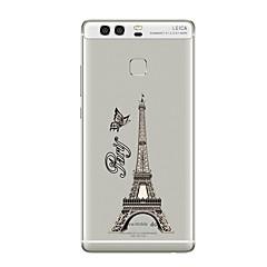 Для Прозрачный С узором Кейс для Задняя крышка Кейс для Эйфелева башня Мягкий TPU для HuaweiHuawei P10 Plus Huawei P10 Huawei P9 Huawei