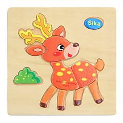 직쏘 퍼즐 나무 퍼즐 교육용 장난감 장난감 애니멀 DIY 아동 아동용 1 조각