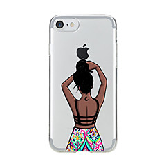 Недорогие Кейсы для iPhone 7-Назначение iPhone X iPhone 8 Чехлы панели Прозрачный С узором Задняя крышка Кейс для Соблазнительная девушка Мягкий Термопластик для Apple