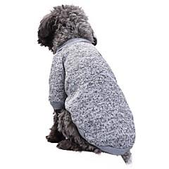 お買い得  犬用ウェア&アクセサリー-ネコ 犬 コート Tシャツ スウェットシャツ 犬用ウェア ソリッド レッド グリーン ピンク ライトブルー ブルー と 海軍 フリース コットン コスチューム ペット用 パーティー カジュアル/普段着 保温 スポーツ