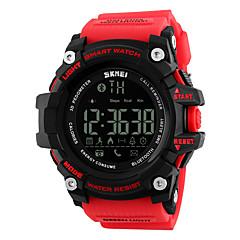 billige Elegante ure-skmei 1227 mænds kvinde smarte armbånd / smarwatch / personlighed store dial bevægelse skridt multi-funktion vandtæt til iOS