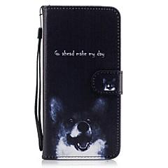 Недорогие Кейсы для iPhone 6-Кейс для Назначение Apple iPhone 7 Plus iPhone 7 Бумажник для карт Кошелек со стендом Флип С узором Чехол С собакой Твердый Кожа PU для