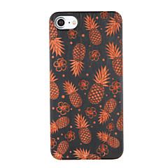 Недорогие Кейсы для iPhone 7-Кейс для Назначение iPhone 7 Plus IPhone 7 Apple С узором Рельефный Кейс на заднюю панель Фрукты Твердый деревянный для iPhone 7 Plus
