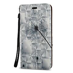 Etui Käyttötarkoitus Samsung Galaxy A5(2017) A3(2017) Korttikotelo Tuella Flip Kuvio Magneetti Kokonaan peittävä Voikukka Kova PU-nahka
